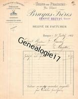 38 3163 VOIRON ISERE 1903 Manufacture De Registres BRUYAS FRERES Succ BRUYAS ERNEST Au Mail - Imprimerie & Papeterie