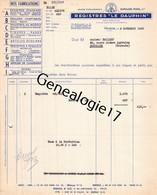 38 3166 VOIRON ISERE 1953 Registres LE DAUPHIN Registre Ets DUMOLARD - MOREL Dest BAILLET - Imprimerie & Papeterie