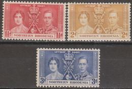 Rhodesia Del Nord 1937 MiN°22/24 3v Cpl Set MNH/** Vedere Scansione - Nordrhodesien (...-1963)