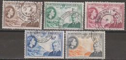 Rhodesia Del Nord 1953 MiN°54/58 5v Cpl Set (o) Vedere Scansione - Nordrhodesien (...-1963)