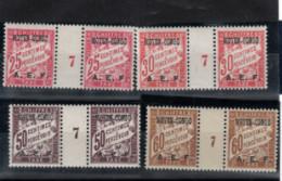 Moyen - Congo _ 4 Millésimes  Taxe A.E.F_ (1927 ) N° 4/5+ 7/ 8 Neufs - Ungebraucht