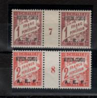 Moyen - Congo _ 2 Millésimes  Taxe A.E.F_ (1927 / 28 ) N° 9 /10 Neufs - Ungebraucht