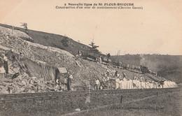 15  SAINT FLOUR  La Construction  D'un Mur De Soutainement De La Ligne De Brioude - Saint Flour