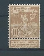 N° 72* AVEC SAUT DE PEIGNE - 1894-1896 Expositions