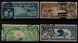 USA 1926-27, Scott C7-C10, Used, Air Mail, Map, Airplane - 1a. 1918-1940 Usados