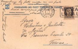 "11320"" FEDERAZIONE DEI FASCI FEMMINILI DI PADOVA""-CARTOLINA SPEDITA 1939 - Padova"