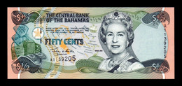 Bahamas 50 Cents 1/2 Dollar Queen Elizabeth II 2001 Pick 68 SC- AUNC - Bahamas