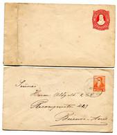 2 Prepaid Envelopes - 8 Centavos And 5 Centavos - Ganzsachen