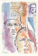 Carte Maximum FRANCE 1990 - N° Y&T 2634 (Général DE GAULLE) Obl Sp. Ill.1er Jour (Ed. CEF) - 1990-99