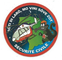 348 - AUTOCOLLANT SÉCURITÉ  CIVILE (Hélicoptère - Crocodile) - Stickers