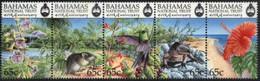 BAHAMAS, 1999, FAUNA AND FLORA, YV#1021-25, MNH - Bahamas (1973-...)