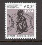 Cyprus 2009 (Vl 974) Special Refugees Fund Stamp MNH - Nuevos