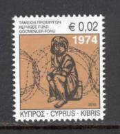 Cyprus 2010 Special Refugees Fund Stamp MNH - Nuevos