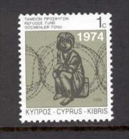 Cyprus 2004 (Vl 878) Special Refugees Fund Stamp MNH - Nuevos