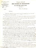 COMMERCE DU BOIS  A PARIS . 1840 . LETTRE COCHES ET DILIGENCES HAUTE SEINE YONNE ET CANAUX . FLOTTAGE ... - Documents Historiques