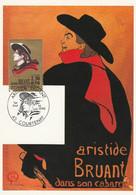 Carte Maximum FRANCE 1990 - N° Y&T 2649 (Aristide BRUANT) Obl Sp. Ill.1er Jour (Ed. CEF) - 1990-99