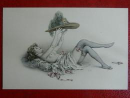 CPA  Erotique  M.M VIENNE    FEMME Dénudée  Et Son Chapeau Signé R.R - Autres Illustrateurs