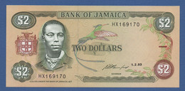 JAMAICA - P.69e – 2 DOLLARS 1993 - Unc - Prefix HX - Jamaica
