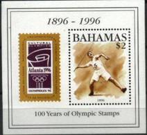 BAHAMAS, 1996, OLYMPHILEX, ATLANTA'96, YV#B.78, SS, MNH - Bahamas (1973-...)