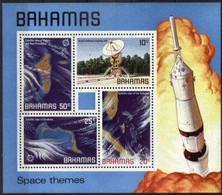 BAHAMAS, 1981, SPACE THEMES, YV#B.32, SS, MNH - Bahamas (1973-...)