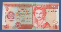 BELIZE - P.67a – 5 DOLLARS 2003 - UNC - Prefix DA - Belize