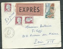 LsC  De PoRto-Vecchio  13/06/1963 , Yvert N°1263 X 3 + 1355, Tarif Par Express   Rmab 1111 - Tariffe Postali