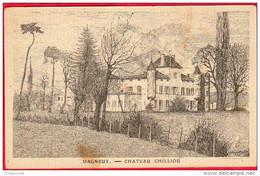 CPA 01 DAGNEUX Chateau CHILOUP  Dessin De MARTIN 1923 Canton De MONTLUEL Chilliou - Altri Comuni