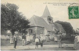 BELLEVILLE SUR MER  Place De L'Eglise (belle Animation) - Altri Comuni