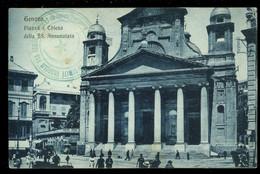 Genova Piazza E Chiesa Della SS Annunziata 1917 Gustavo Modiano - Genova (Genoa)