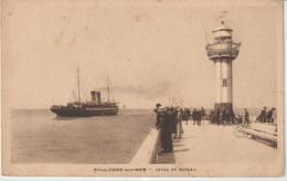 Pas De  Calais :  BOULOGNE   Sur  Mer :  Bateau , Phare  Et Jetée , 1936 - Boulogne Sur Mer