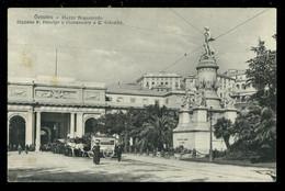 Genova Piazza Acquaverde Stazione Principe E Monumento Colombo Animato Brunner - Genova (Genoa)