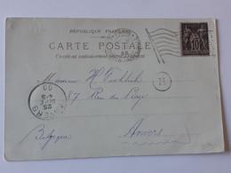 """Timbre Type """" Sage """" Sur Carte De Paris - Tour Eiffel Exposition De 1900 Envoyée Vers Anvers... Lot360 . - 1898-1900 Sage (Tipo III)"""
