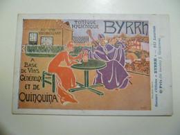 Carte Postale Ancienne Publicitaire BYRRH Concours D'affiches 6ème Prix / J. GLUKOWSKI - Publicité