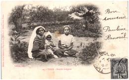 TUNIS - Famille Indigène - Tunesië