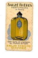 Carte Parfum Sauzé Frères / Eau De Cologne Chypre - Vintage (until 1960)