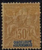 Guadeloupe (1892) N 35 * (charniere) - Neufs