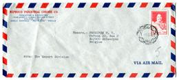 1984 Airmail Envelope From Reproco Industrial Chemie Malata Manilla To Antwerp Belgium - Stamp P 3.50 - Philippines