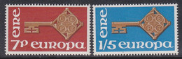ÈIRE-Irland-Europa 1968** / Mich:202+03 / Xz382 - Unused Stamps