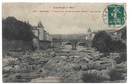 BRASSAC - LE TARN - L'AGOUT EN AMONT DU PONT VIEUX - Cachet Souk El Arbat Tunisie 1911 - Brassac