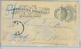 93987 - ARGENTINA - POSTAL HISTORY - STATIONERY  CARD From BA To LA PLATA - Ganzsachen