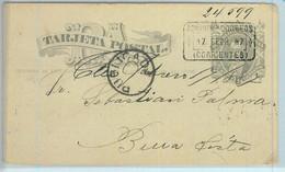 93988  - ARGENTINA - POSTAL HISTORY - STATIONERY  CARD  To BUENA VISTA  1887 - Ganzsachen