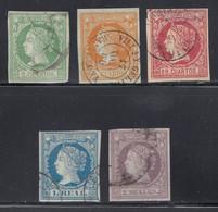 Spain - 1860-61 - 2c-2r - Yv. 47-49,51-52 - Used - Usados