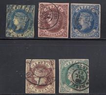 Spain - 1862 - 2c-2r - Yv. 53-55, 57-58 - Used - Usados