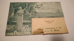 CPA La Poste Par Pigeon Voyageur Concours Colombophile Le Matin Demaria 1905 - Poste & Postini