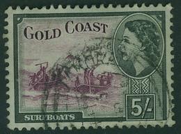 GOLD COAST 1954 QEII 5s SG 163 Used - Goldküste (...-1957)