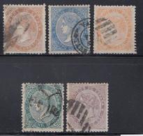 Spain - 1867-69 - 2c-20c - Yv. 86-88,91-92 - Used - Usados