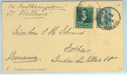 93993 - ARGENTINA - POSTAL HISTORY - STATIONERY  CARD To GERMANY   1894 - Ganzsachen