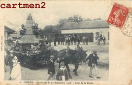COSNE-SUR-LOIRE CAVALCADE DU 27 SEPTEMBRE 1908 CHAR D LA RUCHE ATTELAGE ABEILLE MIEL APICULTEUR APICULTURE 58 NIEVRE - Cosne Cours Sur Loire