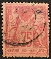YT 81 CaD SAGE (type II) 75 C Rose (1885) (côte 150 Euros) France – Laphil - 1876-1898 Sage (Type II)