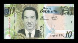Botswana 10 Pula 2014 Pick 30d SC UNC - Botswana
